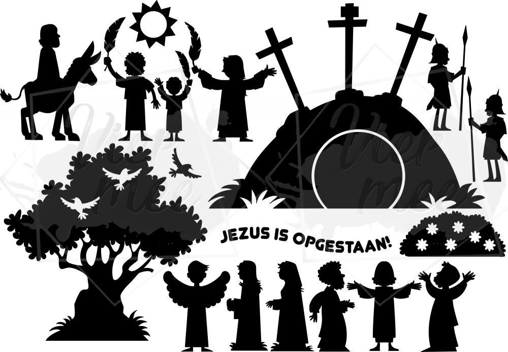 Raamfolie Toeleven naar Pasen