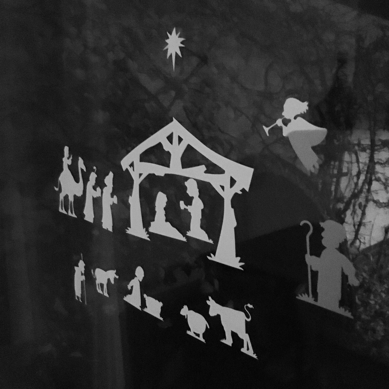 Raamfolie Kerststal