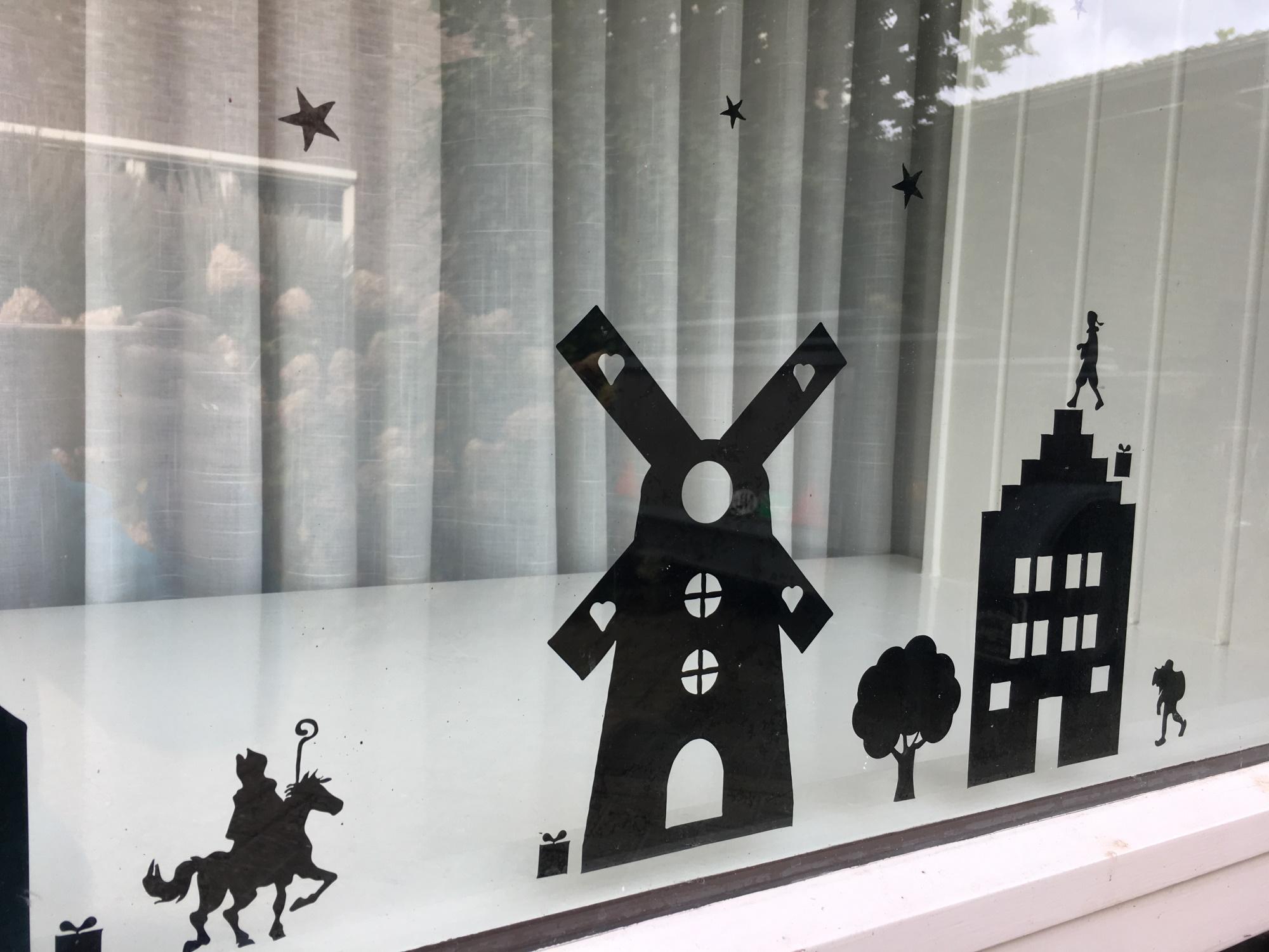 Raamfolie Sinterklaas