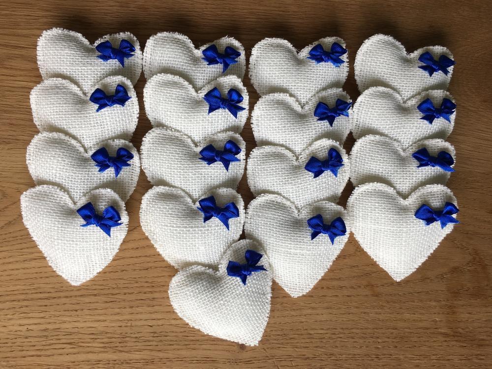 Corsages wit met Kobalt-blauw